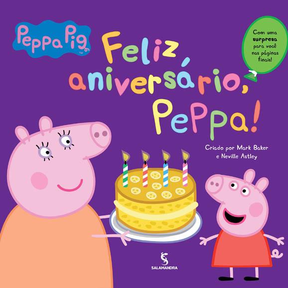 Capa Feliz aniversário, Peppa!